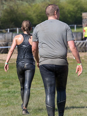 Wolfrun, Saturday 8th April 2017. (David James Clelford Photography) Tags: wolfrun saturday8thapril2017 femaleathlete sportylady curvaceousbody fitgirl wetgirl dirtygirl dirtylady wetlady ass bum derriere booty behind butt ponytail