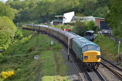 45060 (Lewis_Hurley) Tags: worcestershire uk england britishrail brblue br sherwoodforester carriages coaches preserved railway railroad highley severnvalleyrailway severnvalley svr locomotive loco diesel peak class45