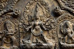 NPL - Hindu goddess Taleju - Patan (VesperTokyo) Tags: katmandu nepal カトマンズ カトマンズ盆地 カトマンドゥ ネパール religion hindu ヒンズー ヒンドゥー nepalese asia unescoworldheritagesite 世界遺産 kathmandu taleju ganesha patan relief