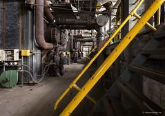 Alienworks (derChambre) Tags: industriesafaride alienworks steelmill stahlwerk hochofen rohre gelb treppe geländer abandoned verlassen verfall decay rost rust