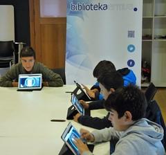 Una de las reuniones del club de lectura digital.