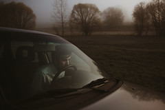 Just ride (milanvopalensky) Tags: boy me male self selfportrait portrait czech canon 5d mark ii 2470mm car fog foggy morning alone surreal surrealism concept conceptual fine art shirt man countryside landscape tree reflection window emotive
