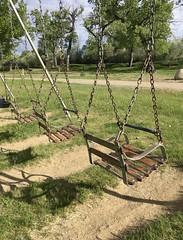 Vintage Kiddy Swings.  Montana (montanatom1950) Tags: playground swings parks malta maltamontana