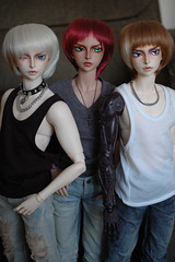 Three F65 Itals (TeaPartyRevolution) Tags: bjd balljointeddoll fairyland ital breakaway feeple65 feeple ssd eyescarital limitededition eyescar scar bres tanskin lir nosescarital nosescar alastir