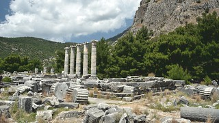 PRIENE Ancient City,  The Temple of Athena.  ( Söke/ Turkey)