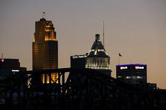Cincinnati, central business district at sunrise (ucumari photography) Tags: ucumariphotography cincinnati ohio april 2017 dsc1429