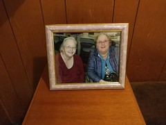 30Apr17  Gaelyne and Jane Jones at the Retro Computer meeting in October 2016.  We met up with Jane and David for lunch and she gave me this lovely framed photo of us. #photoaday #2017pad #friends #commodore64 #c64chicks