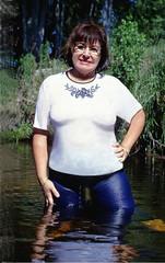 Wet Jeans story, 1983 (clarkfred33) Tags: water wade swamp jeans denim bluejeans designerjeans wetadventure wetfun 1983 wetwoman wetlook stream wetjeans soaked slime story memorable wam wetandmessy