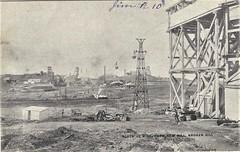 Block 10 mine from New Mill, Broken Hill, N.S.W. - very early 1900s (Aussie~mobs) Tags: brokenhill newmillmine newsouthwales mining shafts australia vintage block10mine