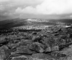 View from Lusen summit towards Mt. Rachel (str.ainer) Tags: lusen nationalpark bayerischerwald bavarianforest rachel spitzberg plattenhausenriegel granite rocks felsen mamiya rb67 sekor sekorc90mm ilford fp4 moersch tanol