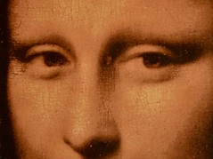 Famous Eyes (Kreative Capture) Tags: eyes macromondays davinci monalisa hmm macro old classic famous art picture wall hanging