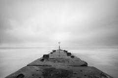Groyne (Derek Robison) Tags: devon groyne boscombe sea landscape longexposure bournemouth shore blackandwhite blackwhite