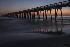 Sandy Mirror (lightonthewater) Tags: beach panamacitybeach pier sand sunset sky reflection gulfofmexico waves