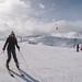 Michelle fazendo aula para esquiar