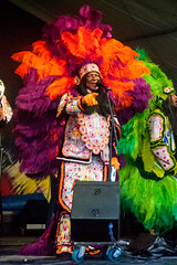 Big Chief Monk Boudreaux and The Golden Eagles, New Orleans Jazz Fest, April 30, 2017 (lovemardigras) Tags: louisiana april2017 monkboudreaux goldeneagles jazzfest neworleansjazzansheritagefestival neworleans unitedstates us