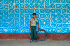 Painted house! (ashik mahmud 1847) Tags: bangladesh d5100 nikkor colorful art pattern design blue texture boy children smile kids portrait