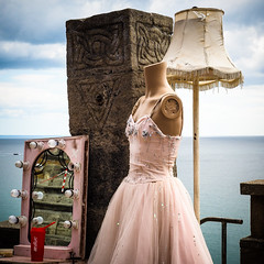 Al The Things She Gave Me (real ramona) Tags: flown minack poc circus cornwall dummy dress mannekin mirror sea lamp set stage theatre