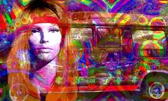 Psychedelia (abstractartangel77) Tags: psychedelia 1960s mannequin campervan fractal cartoon