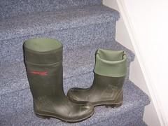 DUNLOP Purofort 383 (stevelman14) Tags: dunlop purofort groengroen laarzen schoon hoog omgeslagen indoor