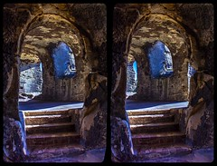 Elf Castle »Regenstein« 3-D / CrossView / Stereoscopic / HDR / Raw (Stereotron) Tags: sachsenanhalt saxonyanhalt ostfalen harz mountains gebirge ostfalia hardt hart hercynia harzgau blankenburg burgregenstein museum archeology archäologie architecture prehistoric megalithic megalithikum felsendom rocks sandstone cave elf castle molten stone crosseye crosseyed crossview xview cross eye pair freeview sidebyside sbs kreuzblick 3d 3dphoto 3dstereo 3rddimension spatial stereo stereo3d stereophoto stereophotography stereoscopic stereoscopy stereotron threedimensional stereoview stereophotomaker stereophotograph 3dpicture 3dglasses 3dimage canon eos 550d chacha singlelens tonemapping hdr hdri raw availablelight europe germany window airtightframe felsenburg 100v10f