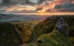 Passing Light (davepsemmens) Tags: sunrise winnatspass peaks sun clouds