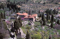 Mistras Archaeological Site (demeeschter) Tags: greece laconia mistras sparta ruins archaeological heritage historical city castle church abbey monastery mountains unesco