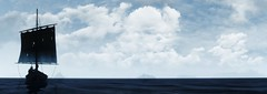 Destination Unknown (~Scimo~) Tags: landscape boat screenshot tw3 witcher clouds sky panorama sea