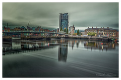 East Side of The Lagan (D.K.o.w) Tags: belfast citycentre albertclock customhouse riverlagan thelagan titanicquarter longexposure leelittlestopper canon7dmkii sigma1020 northernirelandlandscape northernireland cityscape lagan weir bridge