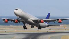 SAS (LN-RKG) (A Sutanto) Tags: sfo ksfo airport san francisco international sas sk airbus a343 a340 jet rotate take off plane spotting airlines airliner scandinavian lnrkg