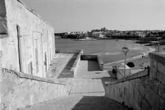 Stairs - Otranto (pierocarrozzo) Tags: praktica tl 1000 ilford hp5 400 800 salento italy italia pellicola film photography otranto sea mare