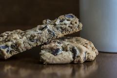Milk and Cookies (Melissa_JMH) Tags: macro mondays chip chips cookie milk food chocolate nikon d610 ngc