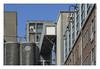 Latenstein and fragmented cranes (UF 151) (AurelioZen) Tags: europe netherlands rotterdam katendrecht rijnhaven flourprosessingplant codrico cranes urbanredevelopment latensteinmeelfabriek