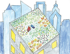 Green City, Clean Waters Art Contest: 2nd Place, 3rd to 5th Grades (Partnership for the Delaware Estuary) Tags: estuaryenvironment greencitycleanwaters cleanwaterart environmentalart philadelphiaschools greenroof jrmasterman