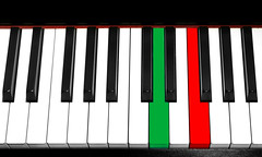 25 aprile (brescia, italy) (bloodybee) Tags: 365project 25aprile 25 april italy liberation day anniversary resistance antifascism flag green white red black stilllife piano keyboard keys music play bellaciao
