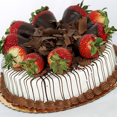 Vanilla cake with strawberries and shredded chocolate (Impossible to Reproduce) Tags: bake baking berries berry cake chocolate cream cuisine dessert dining dripping eat eating fancy food gourmet green leaf meal mint pie piece pies plate red restaurant slice strawberries strawberry sweet sweets table tasty vanilla whipped yummy