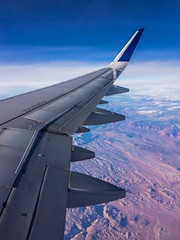 Utah- shot on iPad Pro (aberamati@ymail.com) Tags: iphone ios apple colors landscape aviation utah nevada raw lightroom ipadpro ipad desert birdseye air winglets wings a320 windowseat airplane jetblue