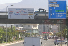 Fushe Kruje (J_Piks) Tags: albania road sh1 traffic roadsign fushekruje
