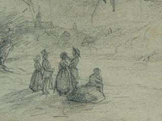 COURBET Gustave - Main, Figures en buste et Figures dans la Campagne, Etudes (drawing, dessin, disegno-Louvre RF29234.22) - Detail 33