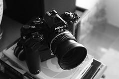 Nikon FM2N - MD12 & Nikkor 50mm f1.8 (jcbkk1956) Tags: camera black mono blackwhite slr 35mm nikon fm2n nikkor 50mmf18 manualfocus d3300 1870mmf3545 motordrive md12 film analog