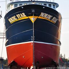 2017-04-28 F/V Nordic Star (1024x1024) (-jon) Tags: anacortes fidalgoisland sanjuanislands skagitcounty washingtonstate guemeschannel dakotacreekindustries fvnordicstar nordicstar fishing imo7719363 mmsi367056452 wdc6442 dci bow prow boat ship vessel shipyard boatyard drydock paint repair maintenance portofanacortes a266122photographyproduction asf aleutiansprayfisheries alaska pollock seattle northpacific henryswasand