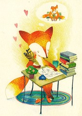 IMG_0009 (lemooryte) Tags: goncharovaekaterina drawing fox animal love post book tea table cozy
