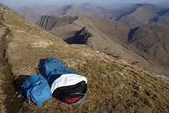 Bivvy on the summit ridge of Ladhar Bheinn, Knoydart 1st May 2017 (Hazel Strachan) Tags: bivvy munros knoydart ladharbheinn scotland