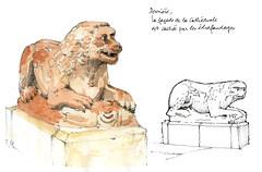 Ferrare 2017 (gerard michel) Tags: italia italy lion duomo sketch croquis aquarelle watercolour