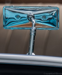 Facial impression (kimbenson45) Tags: blue car chrome classiccar closeup detail differentialfocus distorted distortions face facialimpression metal metallic mirror reflecting reflection reflective shallowdepthoffield vintage white