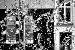 Through the fountain