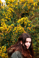 Ashdown Forest w Abbie H (elysiayard) Tags: girl model forest tellow portrait bokeh photography composition canon70d lightroom mood atmosphere flowers hair england teenager texture outside outandabout photoshoot pretty countryside vibrant beauty nature makeup