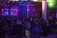 LAN Party @ Het Amsterdams Lyceum (Iris Neline Kuit) Tags: gaming game games spel spellen night lights light evening midnight gamers nerd nerds school lan party minecraft overwatch playstation hp xbox wii pizza students student amsterdam netherlands holland dutch