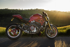 alpenglow... (rockymotard) Tags: ducati monster 1200s alps glow mother nature life is beautiful