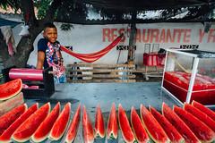 Watermelon Juice Vendor, Curumaní Colombia (AdamCohn) Tags: teen melon kmtoin colombia curumaní boy color geotagged jugosfrescas juice red roadside streetfood streetfoodstall vendor watermelon watermelonjuice cesar