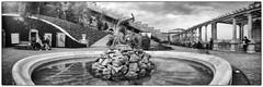 At the fountain (fregolik) Tags: wppd cameraobscura pinhole lyukkamera withoutlens lensless lochkamera ilforddelta100 stenope estenopeica budapest hungary panoramapinhole 120 filmisnotdead